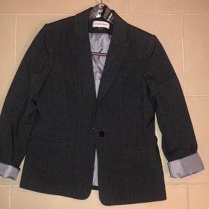 Calvin Klein gray blazer